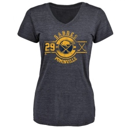 Women's Jason Pominville Buffalo Sabres Insignia Tri-Blend T-Shirt - Navy