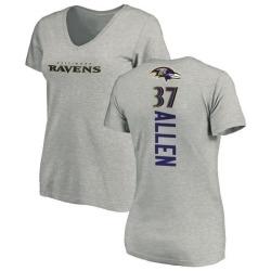 Women's Javorius Allen Baltimore Ravens Backer V-Neck T-Shirt - Ash