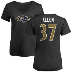 Women's Javorius Allen Baltimore Ravens Name & Number Logo Slim Fit T-Shirt - Black