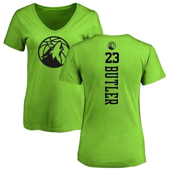 online retailer ecac2 31840 Women's Jimmy Butler Minnesota Timberwolves Neon Green One Color Backer  Slim-Fit V-Neck T-Shirt - Teams Tee