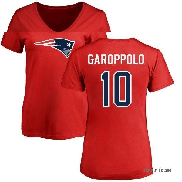 Women's Jimmy Garoppolo New England Patriots Name & Number ... Jimmy Garoppolo Patriots Shirt