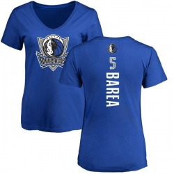 Women's J.J. Barea Dallas Mavericks Royal Backer T-Shirt