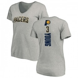 Women's Joe Young Indiana Pacers Ash Backer T-Shirt