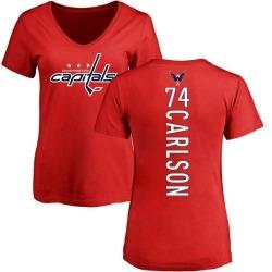 Women's John Carlson Washington Capitals Backer T-Shirt - Red