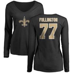 Women's John Fullington New Orleans Saints Name & Number Logo Slim Fit Long Sleeve T-Shirt - Black