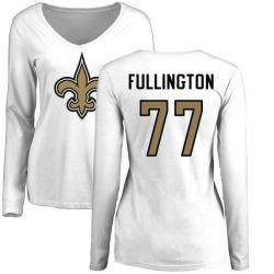 Women's John Fullington New Orleans Saints Name & Number Logo Slim Fit Long Sleeve T-Shirt - White