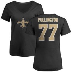 Women's John Fullington New Orleans Saints Name & Number Logo Slim Fit T-Shirt - Black