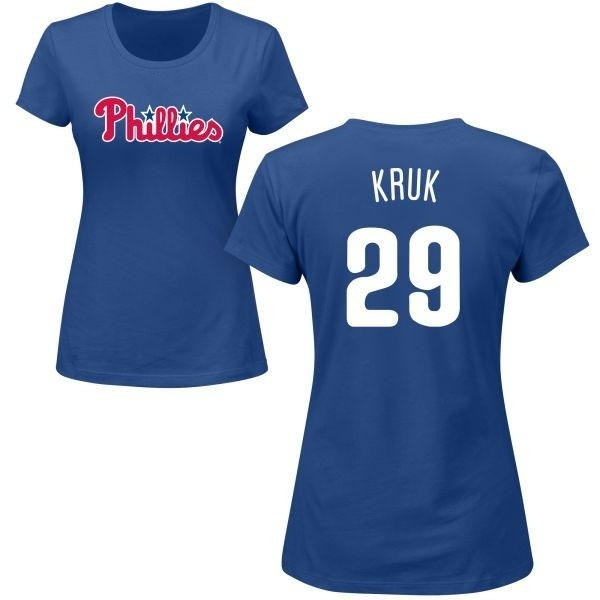 Women's John Kruk Philadelphia Phillies Roster Name & Number T-Shirt - Royal