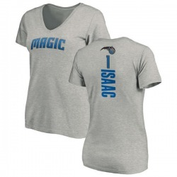 Women's Jonathan Isaac Orlando Magic Ash Backer T-Shirt