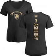 Women's Jordan Asberry Army Black Knights Football Backer V-Neck T-Shirt - Black