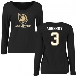 Women's Jordan Asberry Army Black Knights Football Slim Fit Long Sleeve T-Shirt - Black