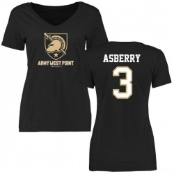 Women's Jordan Asberry Army Black Knights Football Slim Fit T-Shirt - Black