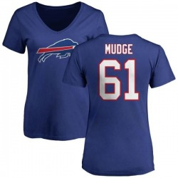 Women's Jordan Mudge Buffalo Bills Name & Number Logo Slim Fit T-Shirt - Royal