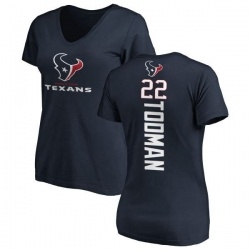 Women's Jordan Todman Houston Texans Backer Slim Fit T-Shirt - Navy