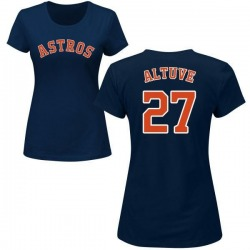 Women's Jose Altuve Houston Astros Roster Name & Number T-Shirt - Navy