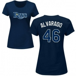 Women's Jose Alvarado Tampa Bay Rays Roster Name & Number T-Shirt - Navy