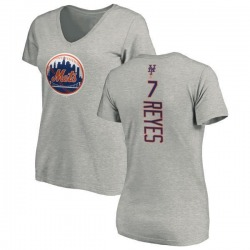 Women's Jose Reyes New York Mets Backer Slim Fit T-Shirt - Ash