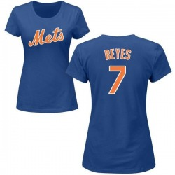 Women's Jose Reyes New York Mets Roster Name & Number T-Shirt - Royal