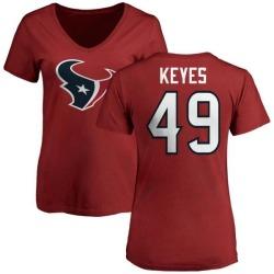 Women's Josh Keyes Houston Texans Name & Number Logo Slim Fit T-Shirt - Red