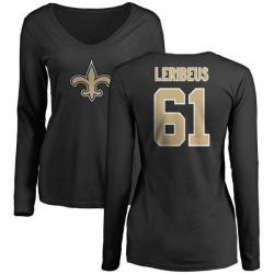 Women's Josh LeRibeus New Orleans Saints Name & Number Logo Slim Fit Long Sleeve T-Shirt - Black