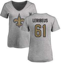Women's Josh LeRibeus New Orleans Saints Name & Number Logo Slim Fit T-Shirt - Ash
