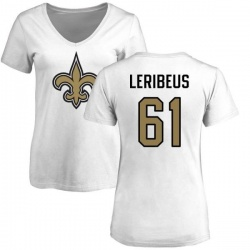 Women's Josh LeRibeus New Orleans Saints Name & Number Logo Slim Fit T-Shirt - White