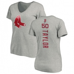Women's Josh Taylor Boston Red Sox Backer Slim Fit T-Shirt - Ash