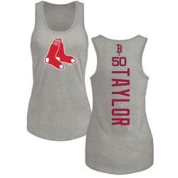 Women's Josh Taylor Boston Red Sox Backer Tri-Blend Tank Top - Ash