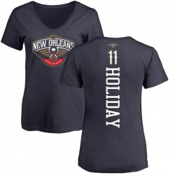 Women's Jrue Holiday New Orleans Pelicans Navy Backer T-Shirt