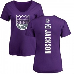 Women's Justin Jackson Sacramento Kings Purple Backer T-Shirt