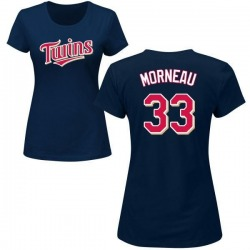 Women's Justin Morneau Minnesota Twins Roster Name & Number T-Shirt - Navy