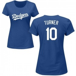Women's Justin Turner Los Angeles Dodgers Roster Name & Number T-Shirt - Royal