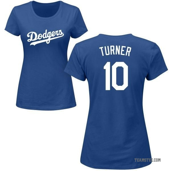 best sneakers 2c70f b0a14 Women's Justin Turner Los Angeles Dodgers Roster Name & Number T-Shirt -  Royal
