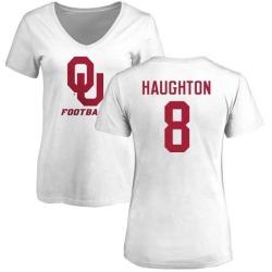 Women's Kahlil Haughton Oklahoma Sooners One Color T-Shirt - White