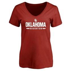 Women's Kahlil Haughton Oklahoma Sooners Sport T-Shirt - Cardinal