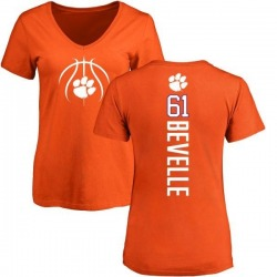 Women's Kaleb Bevelle Clemson Tigers Basketball Backer T-Shirt - Orange