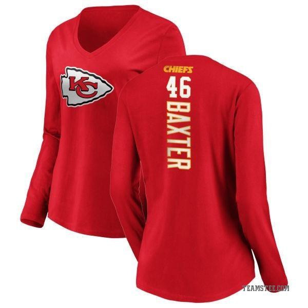 7a5edd25 Women's Keith Baxter Kansas City Chiefs Backer Slim Fit Long Sleeve T-Shirt  - Red - Teams Tee