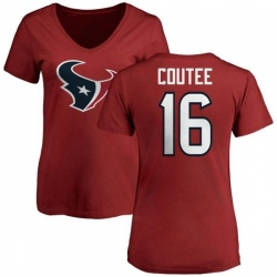 Women's Keke Coutee Houston Texans Name & Number Logo Slim Fit T-Shirt - Red