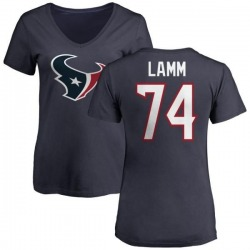 Women's Kendall Lamm Houston Texans Name & Number Logo Slim Fit T-Shirt - Navy