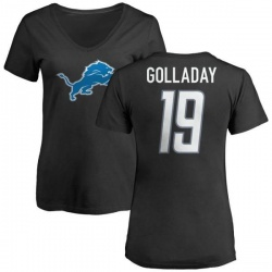 Women's Kenny Golladay Detroit Lions Name & Number Logo Slim Fit T-Shirt - Black