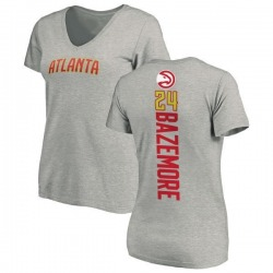 Women's Kent Bazemore Atlanta Hawks Ash Backer T-Shirt