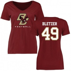 Women's Kevin Bletzer Boston College Eagles Football T-Shirt - Maroon