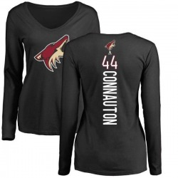 Women's Kevin Connauton Arizona Coyotes Backer Long Sleeve T-Shirt - Black