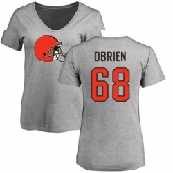 Women's Kitt Obrien Cleveland Browns Name & Number Logo Slim Fit T-Shirt - Ash