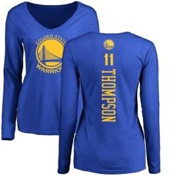 c173edc2141b Women s Klay Thompson Golden State Warriors Royal Backer Long Sleeve T-Shirt