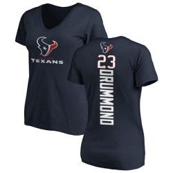 Women's Kurtis Drummond Houston Texans Backer Slim Fit T-Shirt - Navy
