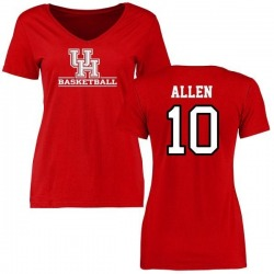 Women's Kyle Allen Houston Cougars Basketball Slim Fit T-Shirt - Red