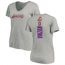 Women's Kyle Kuzma Los Angeles Lakers Ash Backer T-Shirt