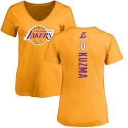 Women's Kyle Kuzma Los Angeles Lakers Gold Backer T-Shirt