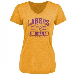 Women's Kyle Kuzma Los Angeles Lakers Gold Baseline Tri-Blend T-Shirt